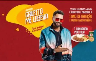 Cadastrar Promoção 1 Ano Refeição Grátis Griletto 2020