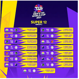 T20 Time Table Of Wolrd Cup 2021