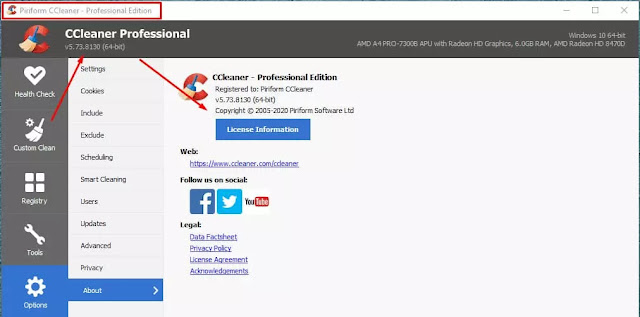 Download CCleaner Professional 5.73