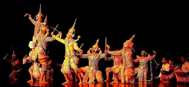 A stage adaptation of Ramkien in Thailand