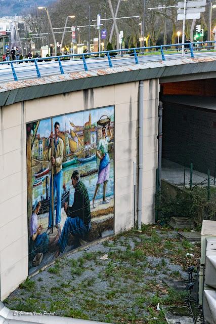Mural Pesca - Bilbao, por El Guisante Verde Project