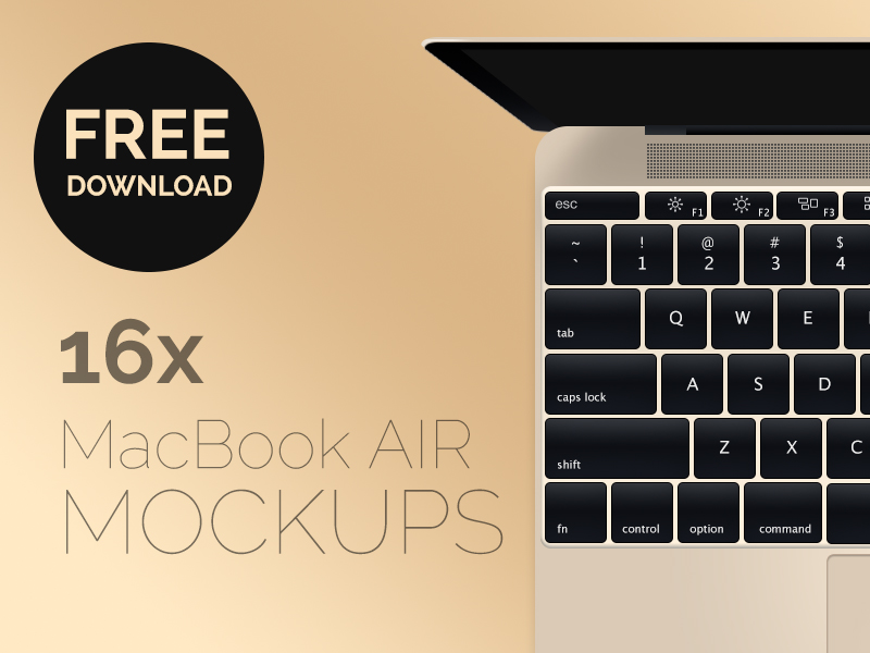 New Macbook Air Mockup PSD