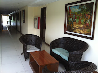 5th Floor lobby wicker sofa set at Dely's Inn Baguio City