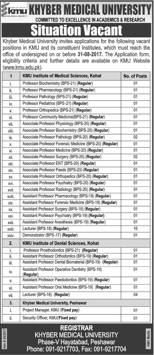 Jobs In Gujranwala Swedish Institute Of Technology  Aug 2017