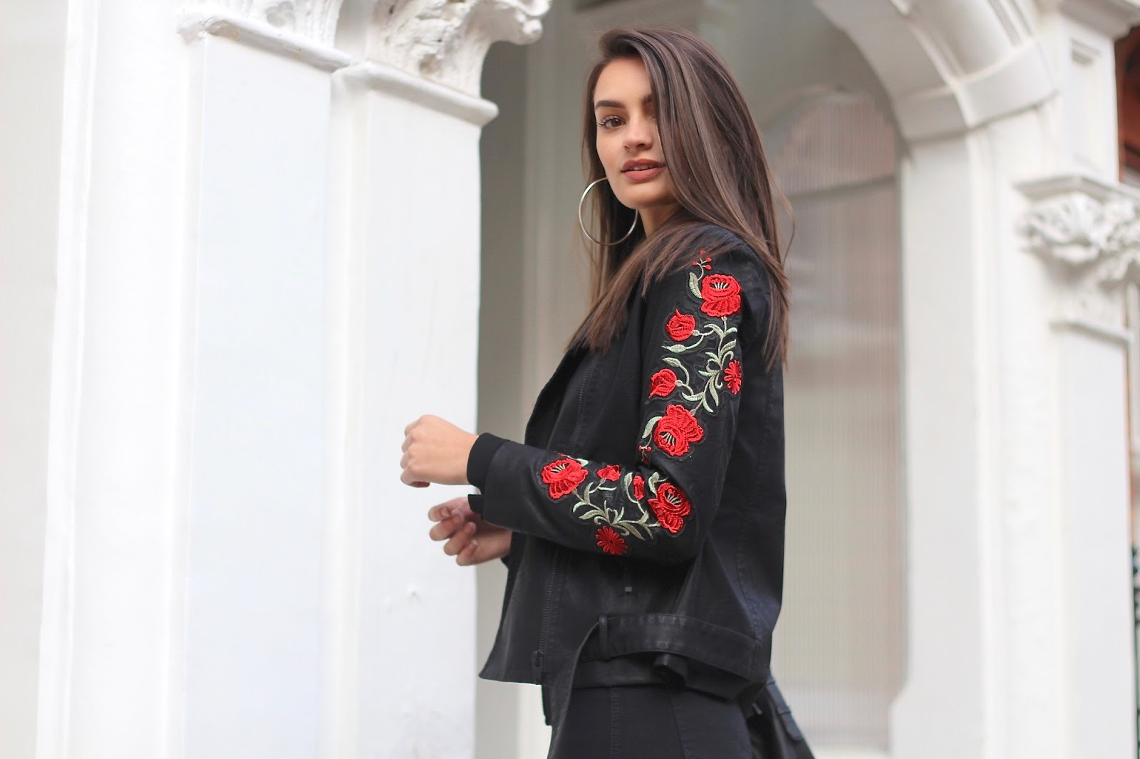 peexo embroidered biker jacket missguided