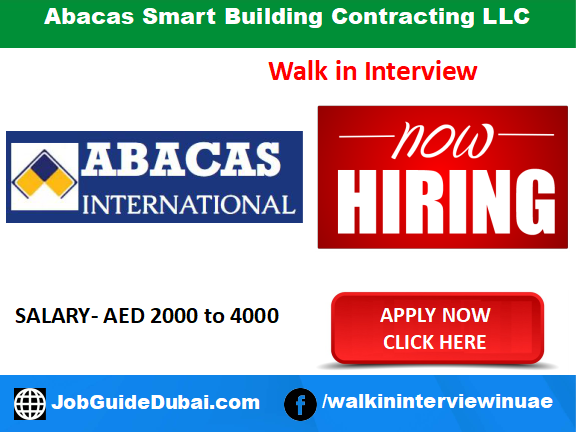 Abacas Smart Building Contracting LLC career for IBS Technician, Supervisor, Debt collector and IBS Engineer jobs in Dubai UAE