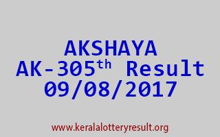 AKSHAYA Lottery AK 305 Results 9-8-2017