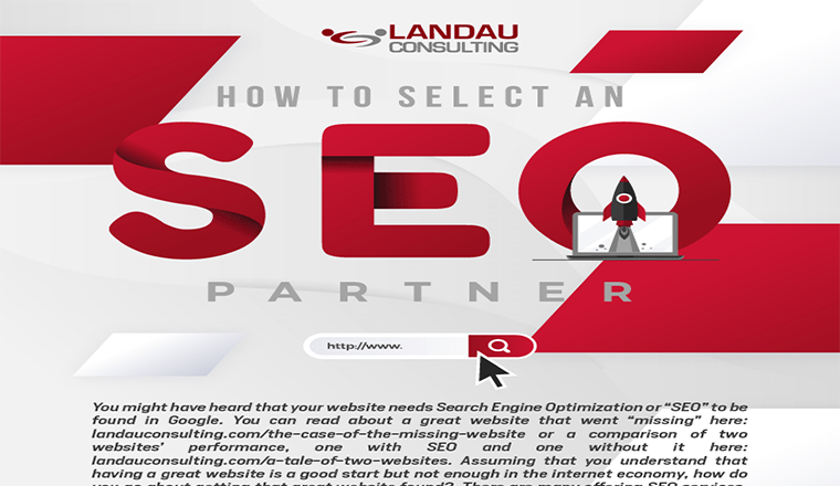 How to Select an SEO Partner #infographic