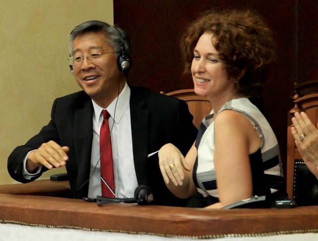 Donald Lu and Romana Vlahutin