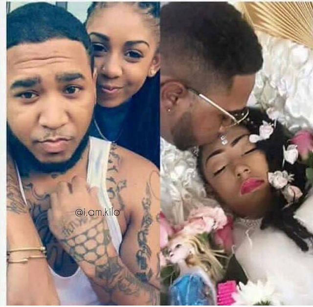 Viral Photo: Man shares photos of himself with girlfriend alive and dead