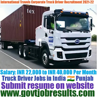 International Travel HGV Truck Driver Recruitment 2021-22