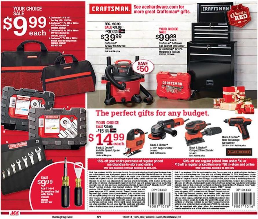 Ace Hardware Friday tools 2018 ad