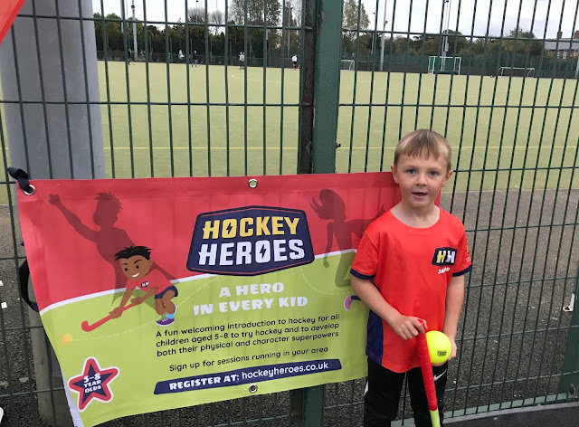 J taking part in Hockey Heroes lesson