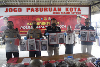 Polres Pasuruan Kota Tetapkan 4 Tersangka Peristiwa ledakan Bom Bondet