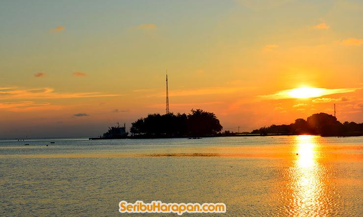 pulau harapan saat senja