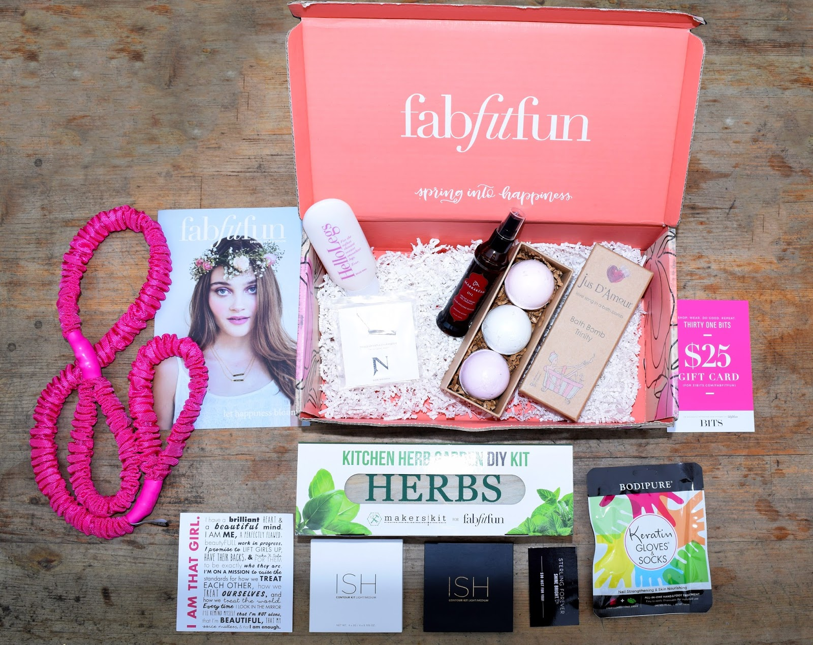 fabfit fun, subscription box, spring, sprint time, beauty, lifestyle