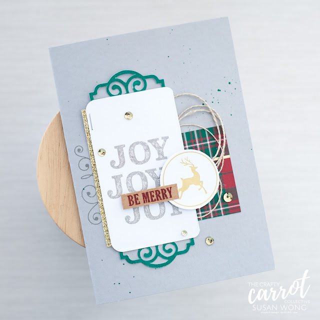 Joy of Giving Tag Kit by Stampin' Up! - Christmas card alternative use - Susan Wong