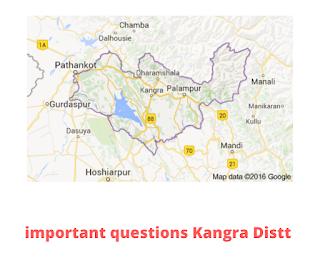 Important Questions (Kangra Distt)