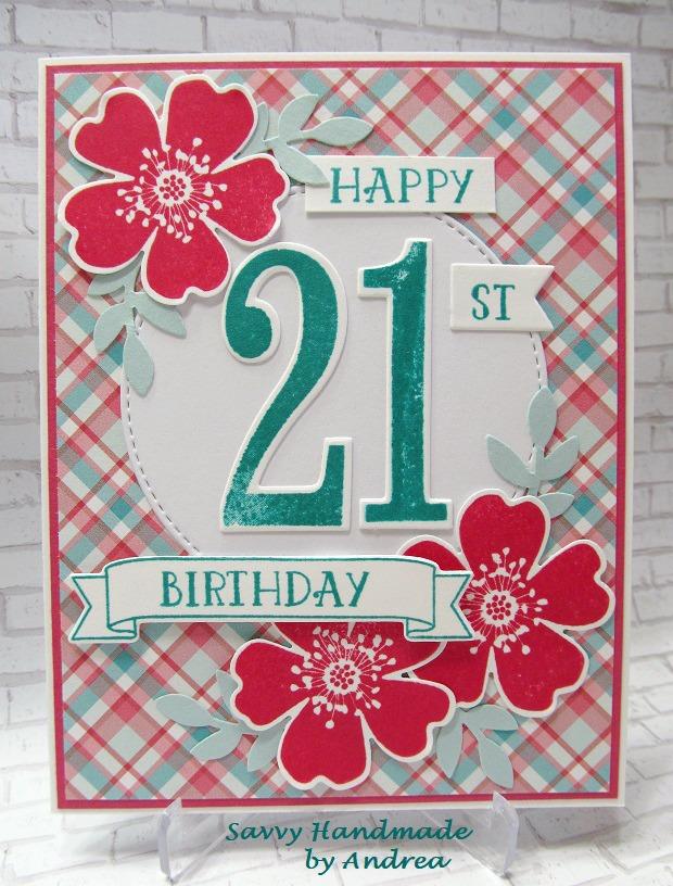 Savvy Handmade Cards Happy 21st Birthday Card