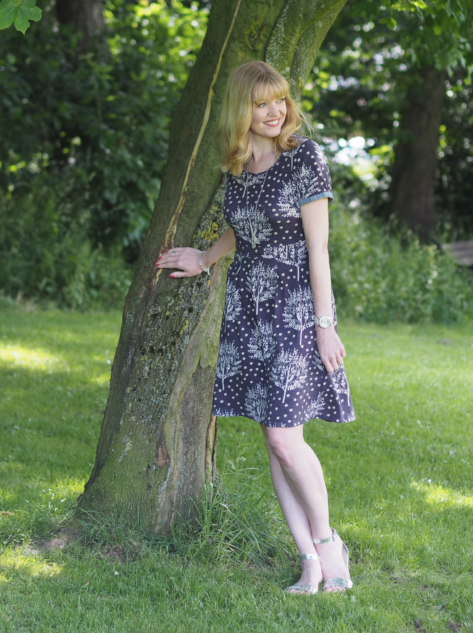 Braintree eco-fashion purple floral dress
