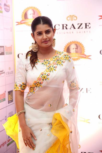 Ashima Narwal hot navel show in white saree Actress Trend