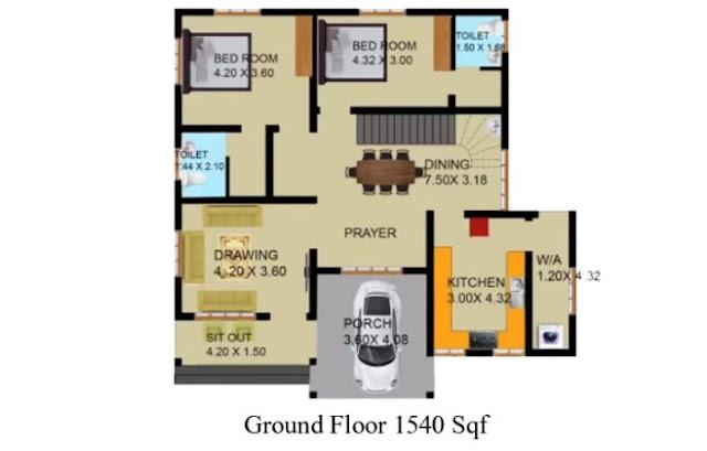 4 bhk home design