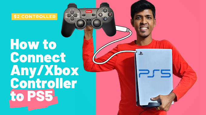 How to Play PS5 games with $2 controller in Playstation 5 Console |Gamer...