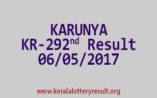KARUNYA Lottery KR 292 Results 6-5-2017