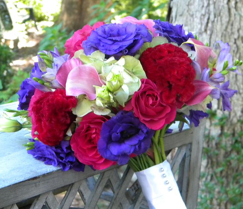 Jewel Tone Wedding Flowers: Wedding Flowers From Springwell: Bouquets In Jewel Tones