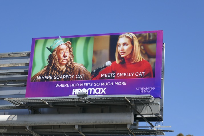 HBO Max Scaredy Cat meets Smelly Cat billboard
