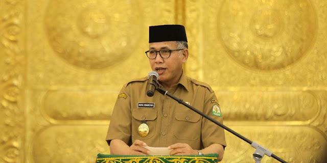 Seluruh ASN Dan Pegawai BUMA Diperintahkan Tes Urine, Gubernur Aceh: Kalau Bersih Kenapa Harus Risih?