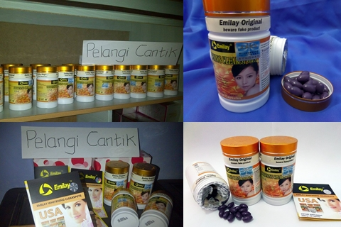 Ready Stock Suplemen Pemutih Kulit Emilay Whitening Originall