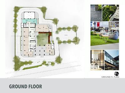 Floor plan evencio, floor plan apartemen, ground floor