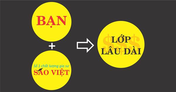 Trung tam gia sư Sao Việt update danh sách lớp dạy 24/7 cho quý thầy cô giáo và các bạn gia sư. Lớp dạy đảm bảo