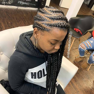 Give your hair a glam makeover with braids like these 29 Jumbo Lemonade Braids Hairstyles That will Turn Your Head