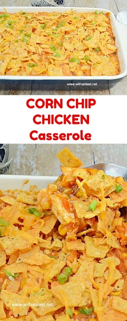Delicious use for leftover Chicken and Rice or use rotisserie chicken ~ easy mix-and-bake dinner recipe