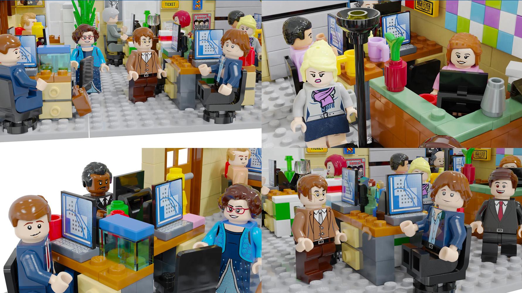 レゴアイデアで『ザ・オフィス』が製品化レビュー進出!2021年第1回1万サポート獲得デザイン紹介