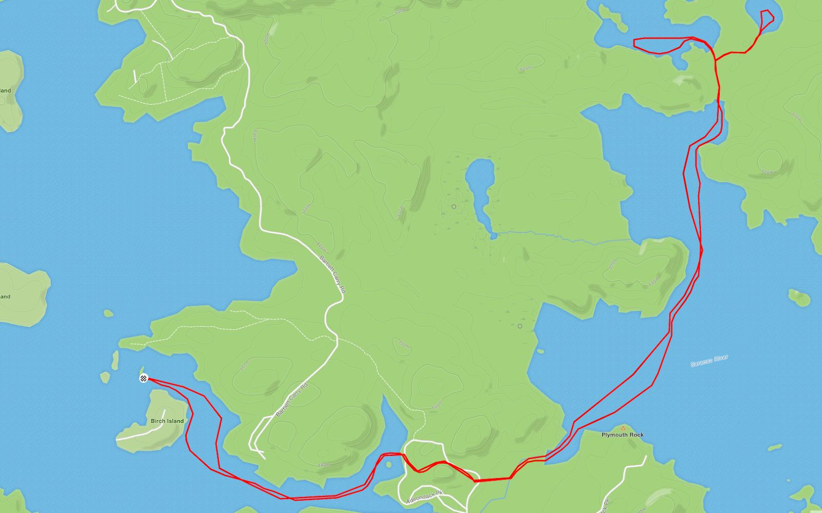 NJ/NY Hikes : Adirondacks: Middle Saranac Lake and Weller