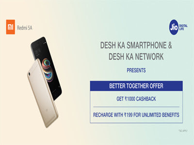 Redimi 5A Offer - Rs 1000 Cashback & Features