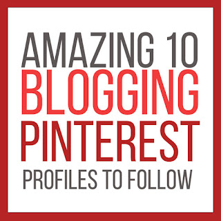 Amazing 10 Blogger Pinterest Profiles to Follow. Get some of the best information on the web about blogging.