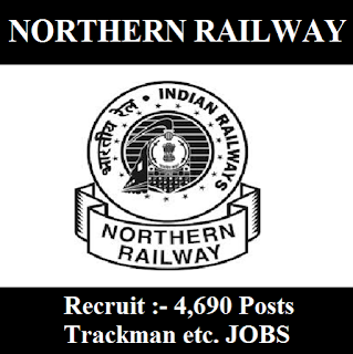 Railway Recruitment Cell, RRC, Northern Railway, NR, New Delhi, Delhi, Indian Railway, Trackman, freejobalert, Sarkari Naukri, Latest Jobs, Railway, RAILWAY, northern railway logo