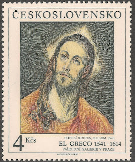 Czechoslovakia  1991 4k Head of Christ by El Greco