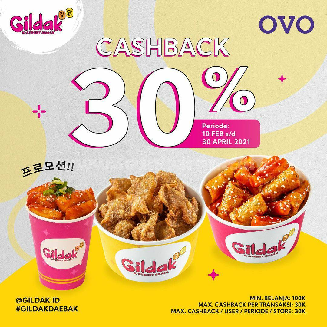 GILDAK Promo OVO! Dapatkan CASHBACK hingga 30%
