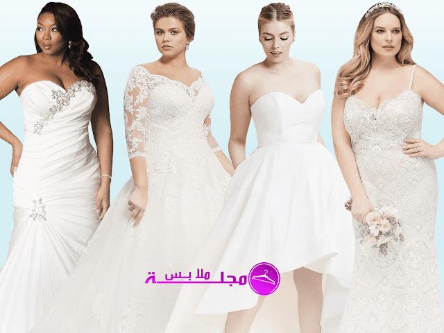أفضل 10 فساتين زفاف بمقاسات كبيرة لموسم الزفاف القادم