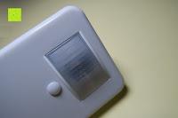 Sensor: Bonlux Bewegung aktiviert LED-WC-Nachtlicht 16 Farben ändern Batteriebetriebene automatische Sensor-LED-Nachtlicht für Badezimmer Waschraum -WC-Schüssel Sitz Lampe [Energieklasse A+]