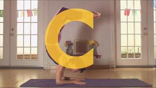 A woman forms a C in yoga, Sesame Street Episode 4401 Telly gets Jealous season 44