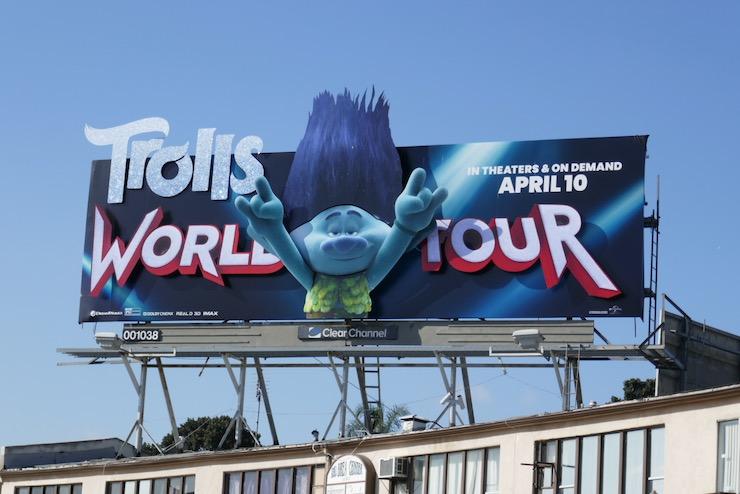 Trolls World Tour 3D Branch billboard