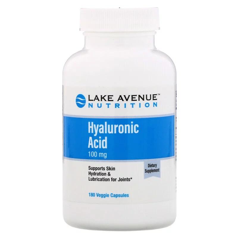 Lake Avenue Nutrition, Гиалуроновая кислота, 100 мг, 180 растительных капсул