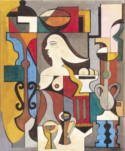Bodegón cubista, 1938