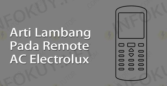 arti lambang pada remote ac electrolux
